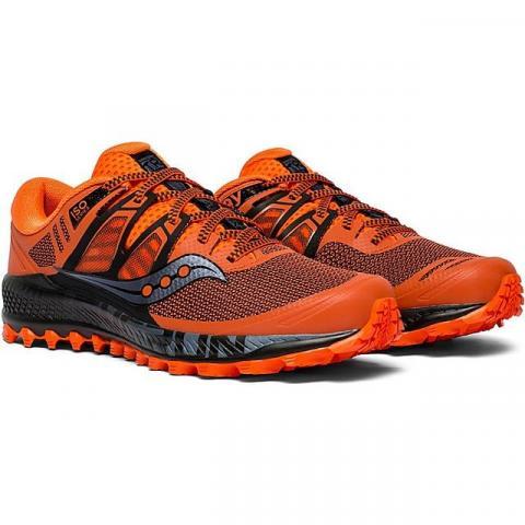 Saucony Men's Peregrine ISO Trail Running Shoe, ORANGE GREY