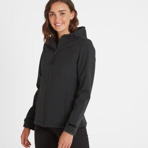 TOG24 Keld Womens Softshell Hooded Jacket - Black
