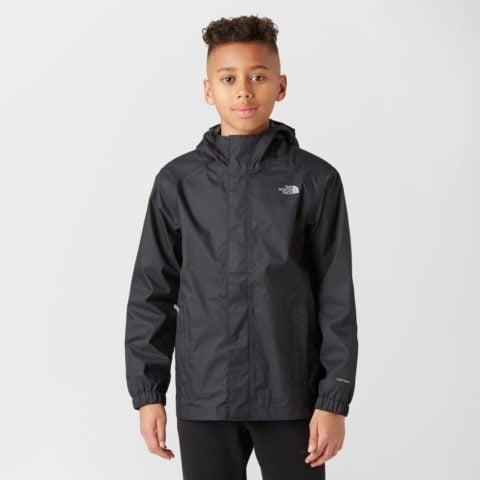The North Face Boy's Resolve Waterproof Jacket, Black