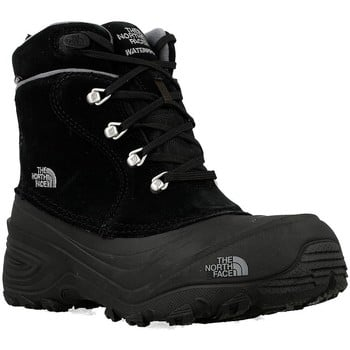 The North Face Youth Chilkat boys's Children's Walking Boots in Black. Sizes available:Kid 2,Kid 5