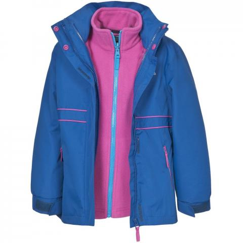 Trespass Girls Tiara Waterproof Breathable Insulated 3 in 1 Jacket 2-3 years - Height 38' Chest 21' (53cm)