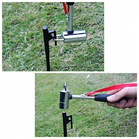 NUZAMAS NEW Outdoor Camping Hammer Mallet Puller for Tent Pegs Stakes 30cm with holding strap