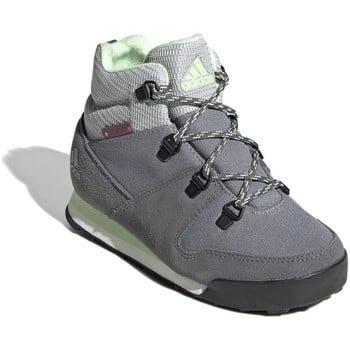 adidas CW Snowpitch K Climawarm Primaloft boys's Children's Walking Boots in multicolour. Sizes available:Kid 1,Kid 2,Kid 3,Kid 4,Kid 5,Kid 6