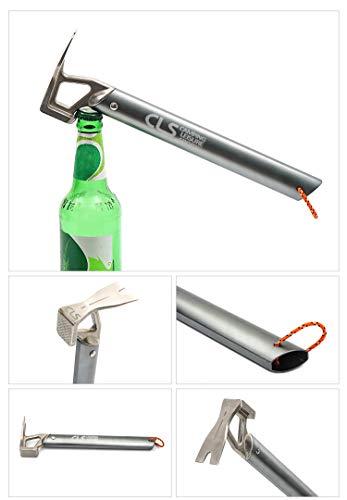 C&YL Camping Mallet Hammer Multi-function Hammer Aluminum Outdoor Hammer Stake Hammer,Tent Peg Puller/Extractor