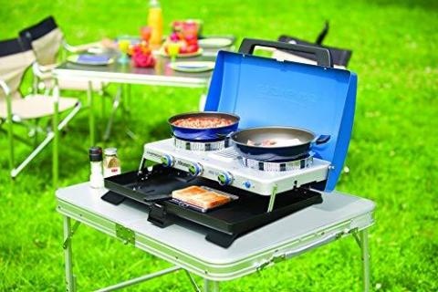 Campingaz Camping Stove 400ST, Portable Two Burner Gas Cooker 4.400 Watt and Compact Outdoor Toaster Grill 1.200 Watt
