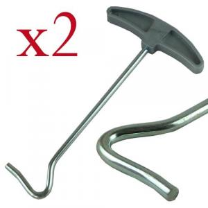 2 x Tent Peg Puller/Extractor With Plastic Handle