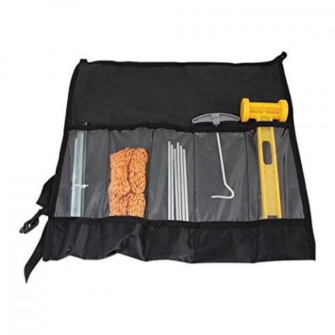 Milestone Camping 20990 5 Piece Tent Accessory Set with Storage Bag-Black