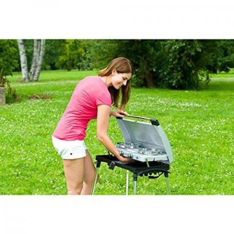 Campingaz Series Xcelerate 600 ST Double Burner with Toaster and Stand Camp Stove Camping Stove With Toaster - Blue