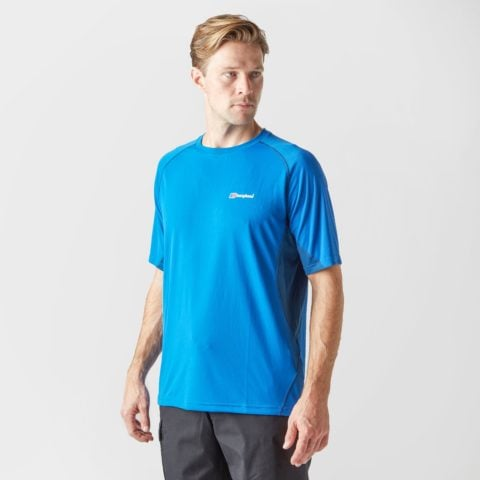 Berghaus Men's Tech Short Sleeve Crew, Blue
