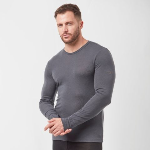 Icebreaker Men's 175 Everyday Long Sleeve Crew, Grey