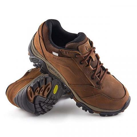 Merrell Men's Moab Adventure Lace Waterproof Shoes, DARK EARTH/WTPF