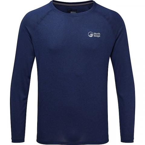 NORTH RIDGE Men's Resistance Long Sleeve Baselayer, NAVY/LS