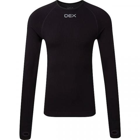OEX Men's Barneo Base Top LS, BLK-GRAPHITE/MENS