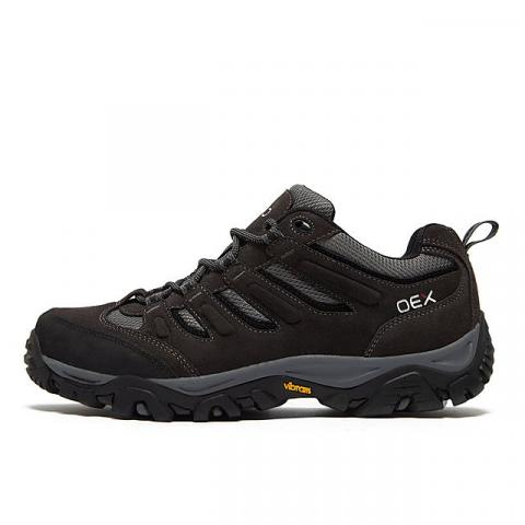 OEX Men's Verge Vent Waterproof Walking Shoes, DBN/DBN