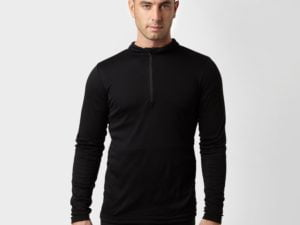 Peter Storm Men's Long Sleeve Thermal Zip Baselayer, Black