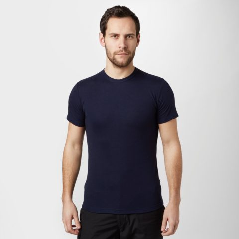 Peter Storm Men's Short Sleeve Thermal Crew Baselayer Top, Navy