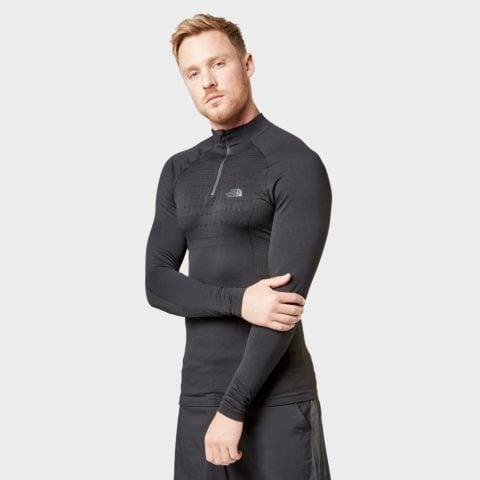 The North Face Men's Sport Long Sleeve Zip Top, Black