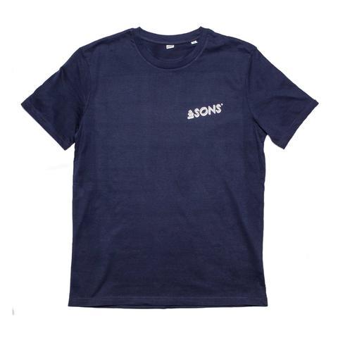 &SONS | Mens T-Shirt | Vintage T-Shirt Men | Cotton T-Shirt | Navy