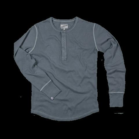 &SONS | Original Elder Grandad Top | Mens Long Sleeve Henley Shirt