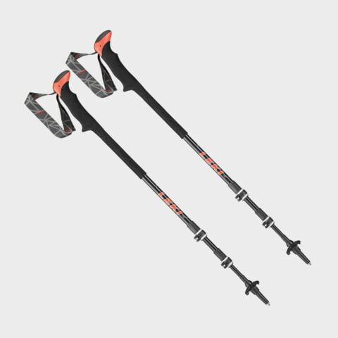 Leki Carbon Ta XTG Walking Poles (pair), BLACK GREY/[PAIR]