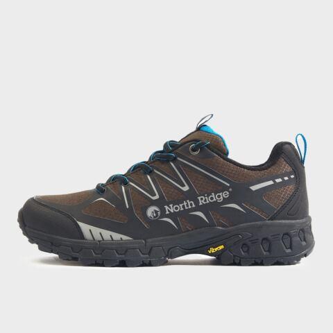 North Ridge Men's Blazer TR Trail Running Shoe, BLACK/BROWN