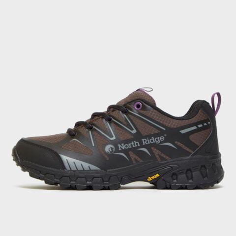 North Ridge Women's Blazer Trail Running Shoes - Blkpur/Blkpur, BLKPUR/BLKPUR