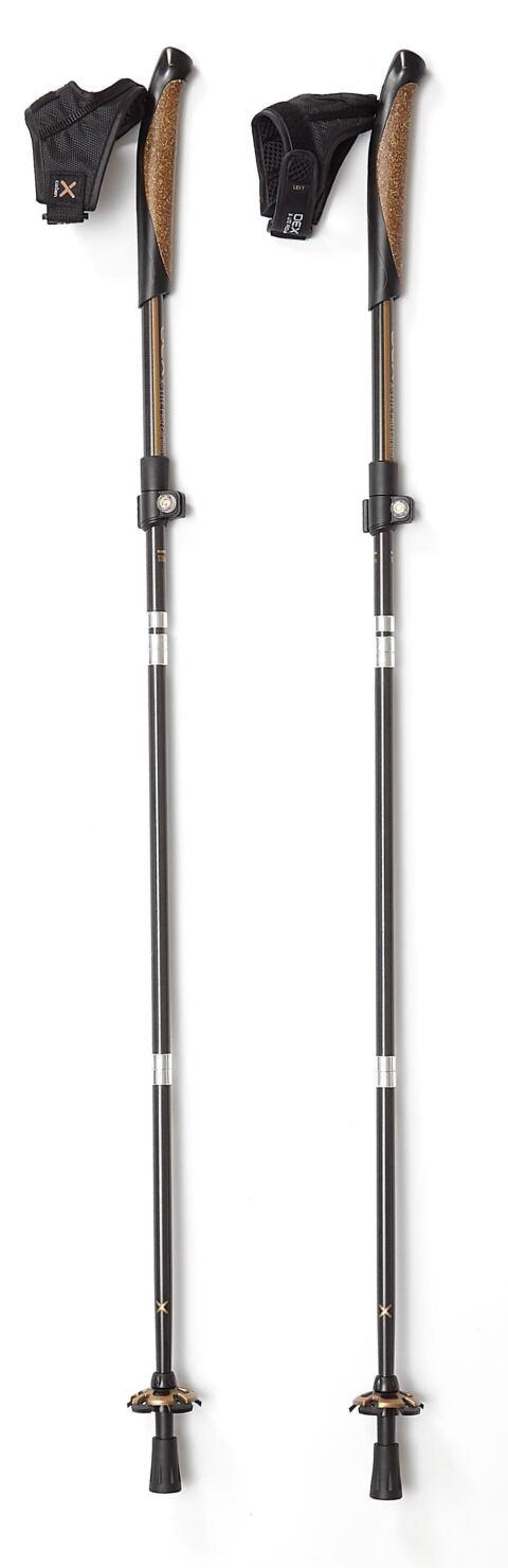 OEX X-Lite Pro Carbon Walking Poles (Pair), CARBON-COPPER/PAIR