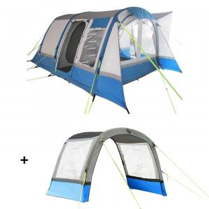 Cocoon Breeze Campervan Awning - Blue and Grey Extension Package