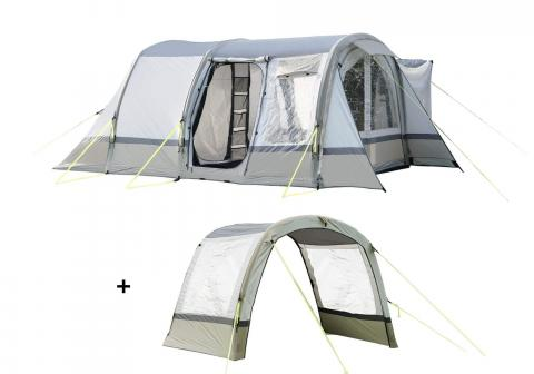 Cocoon Breeze Campervan Awning - Sage Green & Chalk Extension Package