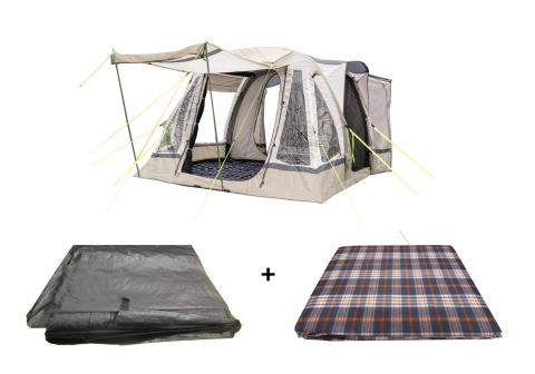 Loopo Breeze Sage Awning Package, Awning, Footprint Groundsheet & Carpet