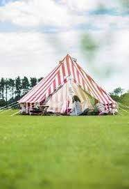 """Summer Fete"" 5M Striped Bell Tent"