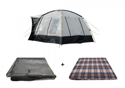 The Cubo Campervan Awning Package, Awning, Carpet, Footprint Groundsheet