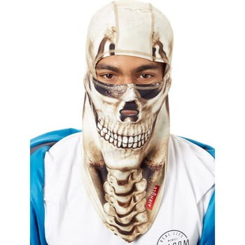 Airhole Skull Hinge Drytech Snowboarding Balaclava men's Scarf in Beige. Sizes available:EU M / L