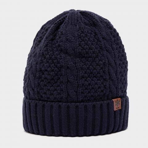 Alpine Men's Fisherman Beanie Hat, Navy/Navy