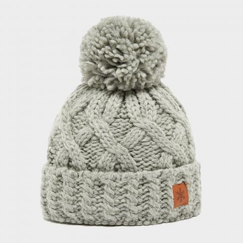 Alpine Women's Chunky Bobble Hat, Grey/Grey