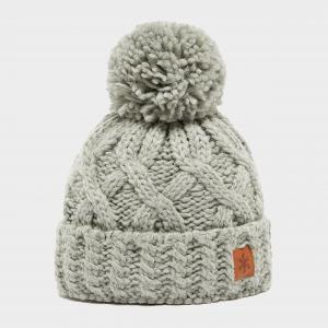 Alpine Women's Chunky Bobble Hat, Grey/Grey