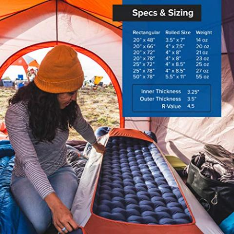 Big Agnes Air Core Ultra Sleeping Pad for Backpacking and Camping