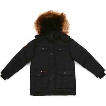 Canada Weather Gear Faux fur hooded parka men's Parka in Black