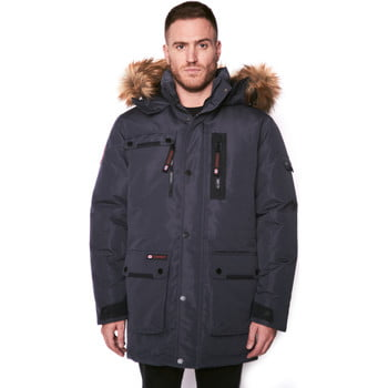 Canada Weather Gear Faux fur hooded parka men's Parka in Grey