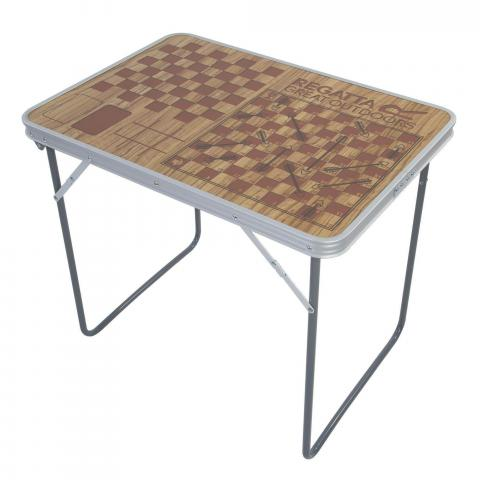 Classic Games Folding Camping Table Brown