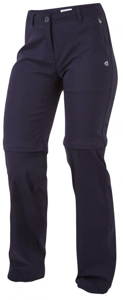 Craghoppers Kiwi Pro Stretch Convertible Women's Trousers, Navy