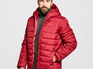 FREEDOMTRAIL Men's Blisco Hooded Jacket, RED/JACKET
