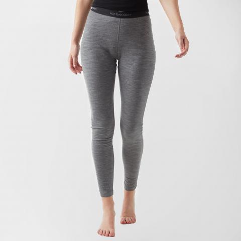 Icebreaker Women's Oasis Leggings, GREY/WHITE