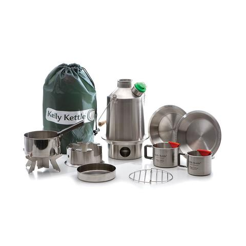 Kelly Kettle | Ultimate Scout Kit | Stainless Steel Volcano Kettle Kit