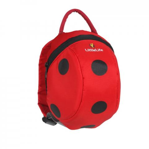 LittleLife Toddler Backpack with Rein-Ladybird