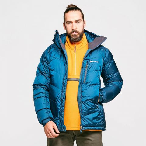 Montane Men's Resolute Down Jacket, Mid Blue/Mid Blue