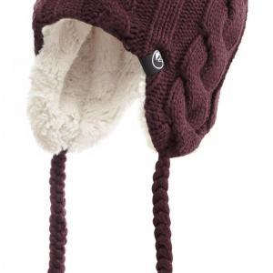 North Ridge Womens Fur Lined Inca Hat, PURPLE/HAT