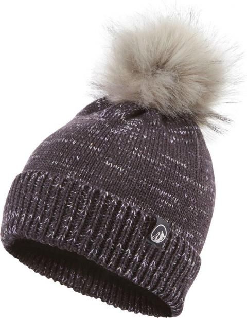 North Ridge Women's Speckled Bobble Hat, OBSIDIAN/HAT