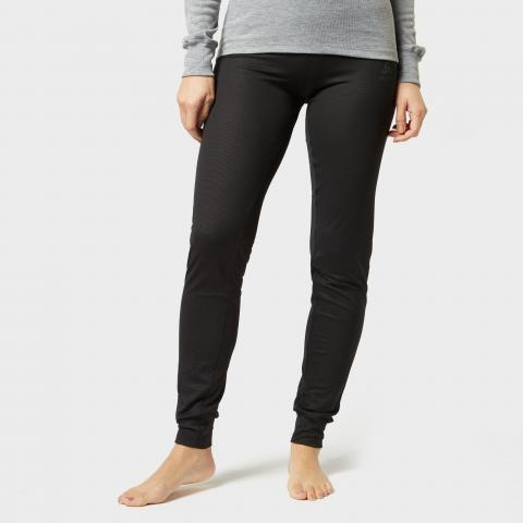Odlo Women's Active F-Dry Light Baselayer Pants, Black