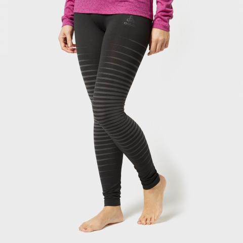 Odlo Women's Performance Light Base Layer Pants, Black